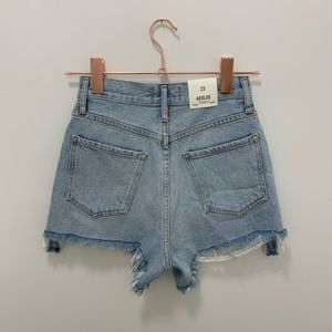 NWT AGOLDE SHORTS - DEE ULTRA HIGH RISE (SIZE 23)